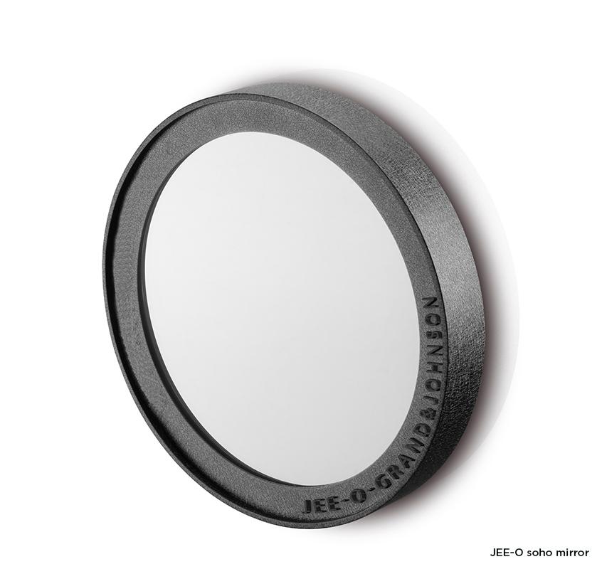 Nástěnné zrcadlo ø30cm JEE-O soho | černý nebo broušený nerez Image