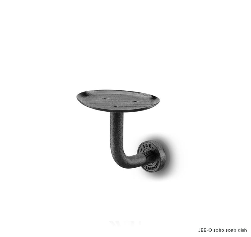 Nástěnný držák na mýdlo JEE-O soho | černý nebo broušený nerez Image