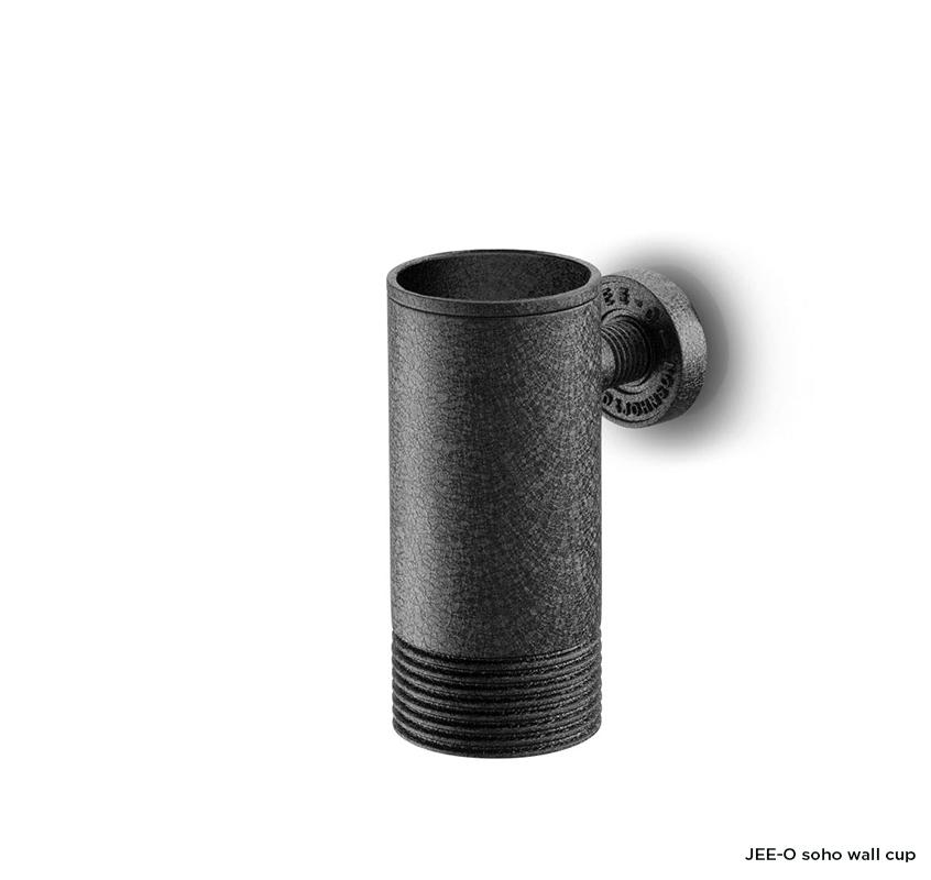 Nástěnný kelímek a držák JEE-O soho | černý nebo broušený nerez Image